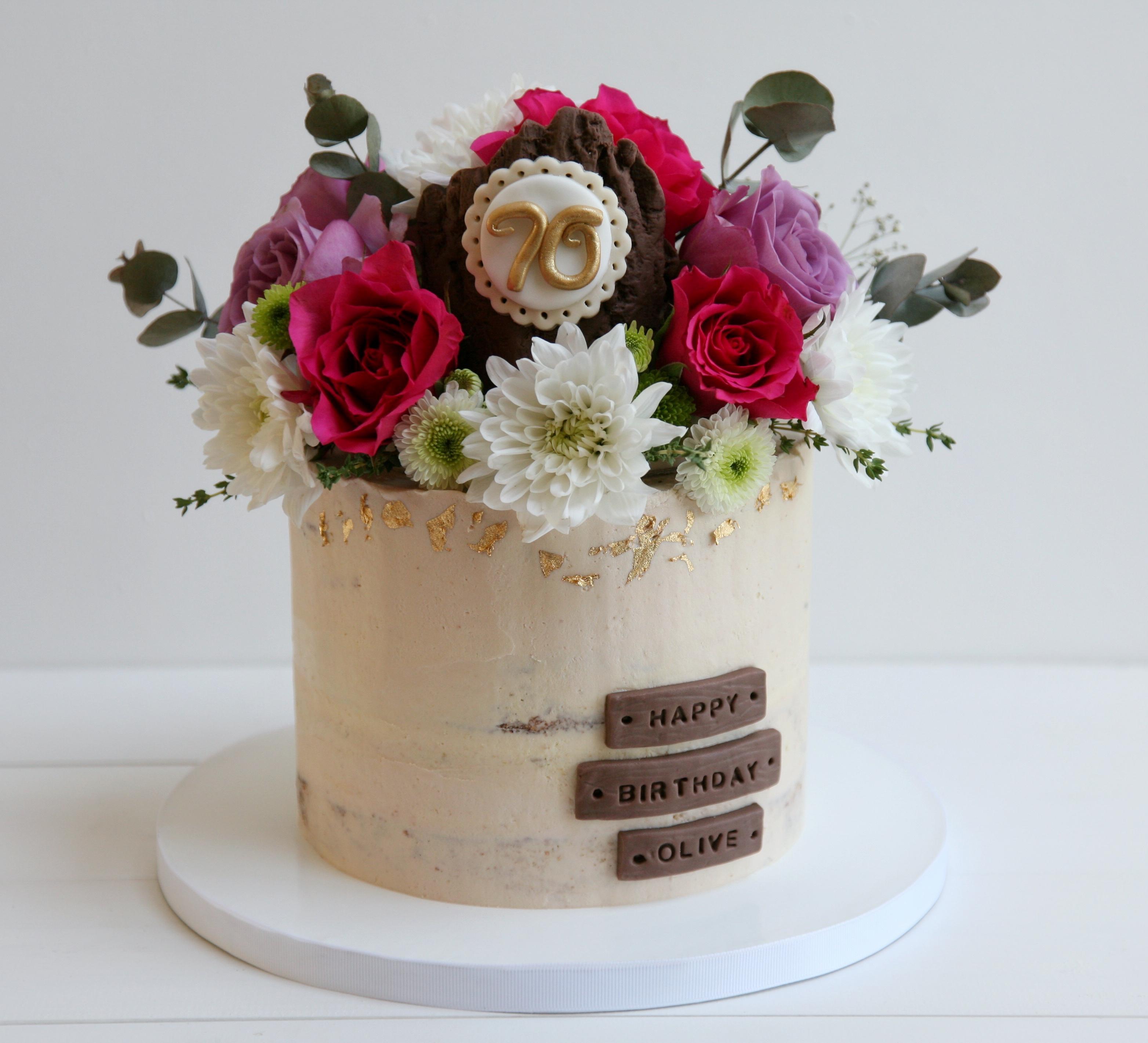 Semi naked 70th birthday cake
