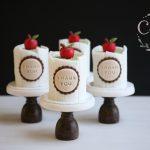 Mini chocolate biscuit teachers cakes