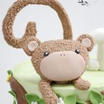 Fondant monkey jungle birthday ckae