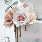 Wafer paper flowers and eucalyptus