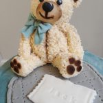 Fondant teddy cake topper