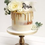 Semi naked gold drip birthday cake