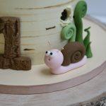 Fondant snail woodland cake