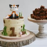 Woodland theme birthday cake