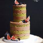 Woodland naked wedding cake