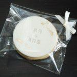 Wedding favor shortbread biscuits