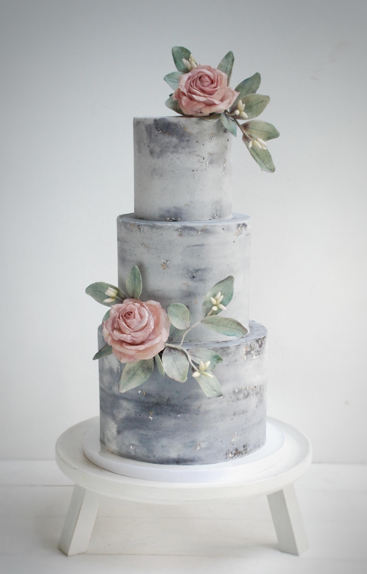 Grey Wedding cake concrete style