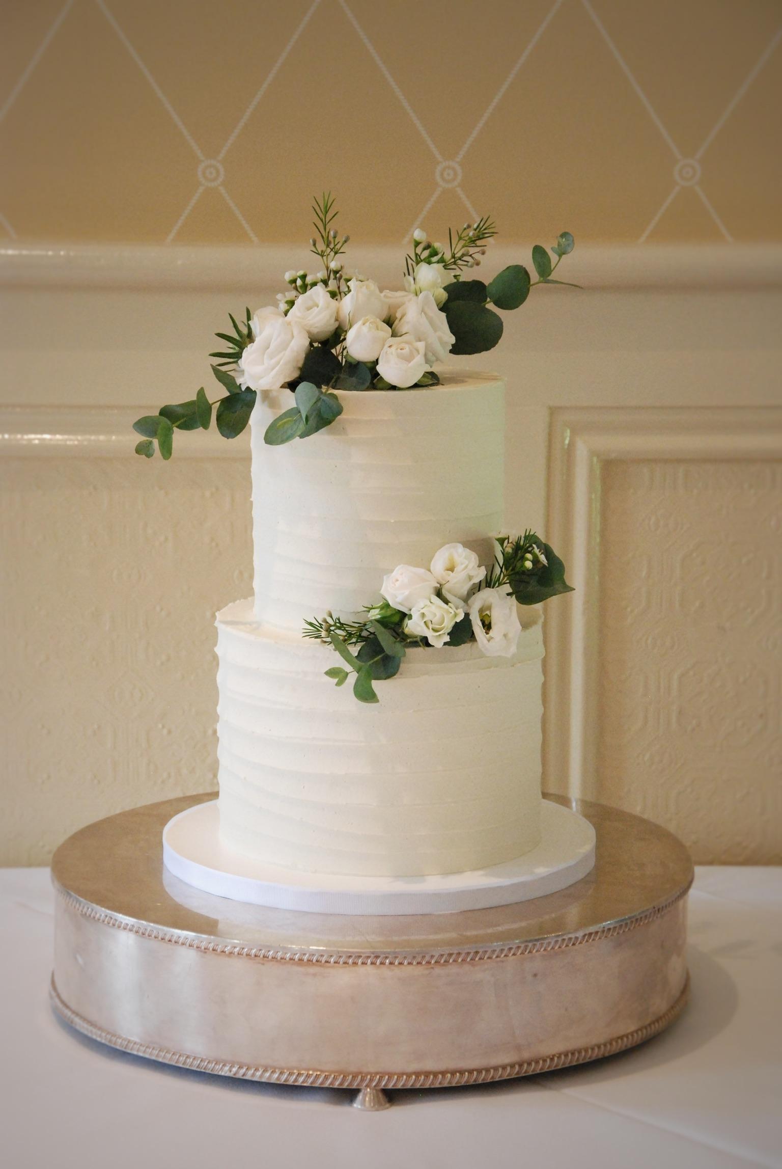 Classic buttercream wedding cake